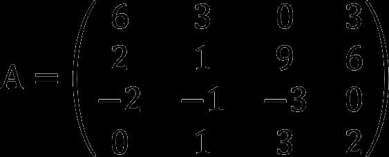 Пример матрицы 4 на 4