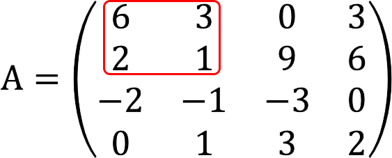 Минор второго порядка матрицы 4 на 4