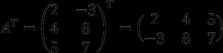 Пример транспонирования матрицы