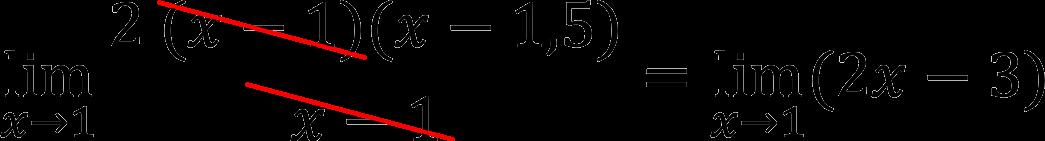 Сокращение дроби в пределе (пример)