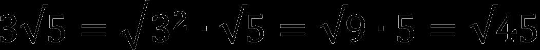 Пример внесения множителя под квадратный корень