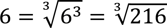 Пример внесения числа под кубический корень