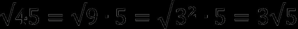 Пример вынесения множителя из-под знака корня
