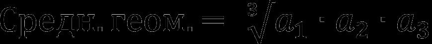 Среднее геометрическое чисел