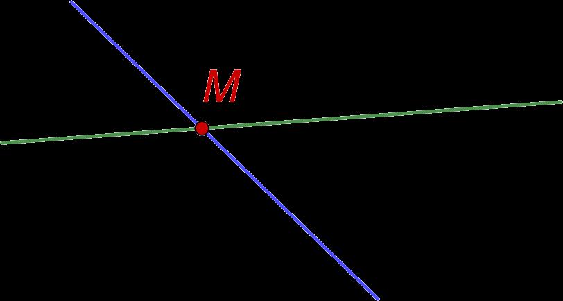 Точка пересечения двух прямых